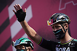 Peter Sagan (SVK) Bora-Hansgrohe at sign on before the start of Stage 10 of the 103rd edition of the Giro d'Italia 2020 running 177km from Lanciano to Tortoreto, Italy. 13th October 2020.  <br /> Picture: LaPresse/Gian Mattia D'Alberto | Cyclefile<br /> <br /> All photos usage must carry mandatory copyright credit (© Cyclefile | LaPresse/Gian Mattia D'Alberto)