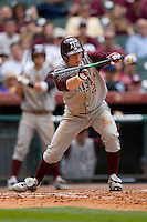 Nick Anders #2 of the Texas A&M Aggies squares to bunt versus the UC-Irvine Anteaters in the 2009 Houston College Classic at Minute Maid Park February 27, 2009 in Houston, TX.  The Aggies defeated the Anteaters 9-2. (Photo by Brian Westerholt / Four Seam Images)