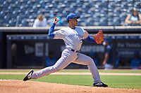 Dunedin Blue Jays pitcher Rafael Ohashi (18) during a game against the Tampa Tarpons on May 9, 2021 at George M. Steinbrenner Field in Tampa, Florida.  (Mike Janes/Four Seam Images)