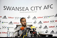 Pictured: Swansea City Manager Wayne Routledge<br /> Swansea City Press Conference, 07/03/13, ahead of their league match against West Bromitch Albion on Saturday. Liberty Stadium, Swansea.