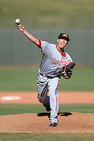 Mesa Solar Sox pitcher Richie Mirowski (14), of the Washington Nationals organization, during an Arizona Fall League game against the Peoria Javelinas on October 16, 2013 at Surprise Stadium in Surprise, Arizona.  Mesa defeated Peoria 3-1.  (Mike Janes/Four Seam Images)