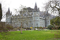 Situated on the shores of Loch Fyne, Inverary Castle is a four-square fortress built of grey-green stone
