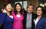 Arianna Chang, Nadine Wong, David Henry Hwang and Audrey Choi during An Evening Of Legacy, Philanthropy & Music For The Benefit Of The Dramatists Guild Foundation at Morgan Stanley Headquarters on May 13, 2019 in New York City.