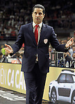 Olympiacos Piraeus' coach Giannis Sfairopoulos during Euroleague Final Match. May 15,2015. (ALTERPHOTOS/Acero)