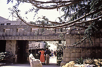 Frank Lloyd Wright,: Ennis-Brown House, Los Angeles.  Textile block, Mayan influence. Photo 1976.