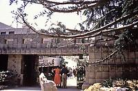 Frank Lloyd Wright,: Ennis-Brown House, Los Angeles.  Textile block, Mayan influence. Photo 1976.
