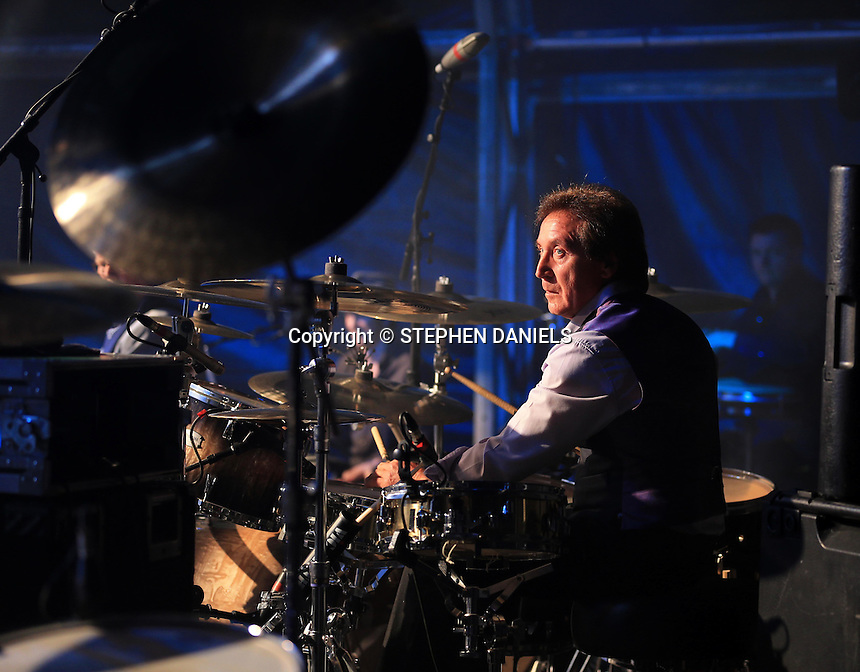 Photo by © Stephen Daniels 13/06/2015<br /> Rock 'N' Horse Power Concert at Hurtwood Park Polo Club, Ewhurst, Surrey for Prostate Cancer UK.<br /> Kenney Jones (Small Faces, The Faces & The WHO)