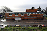 Pictured: Exterior view of the main building. Tuesday 14 January 2013<br /> Re: Swansea City Football Club chairman Huw Jenkins receives the keys to the new training facility at Fairwood Common, on the outskirts of Swansea, south Wales.