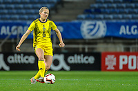 20200310 Faro , Portugal : Swedish Magdalena Eriksson (6) pictured during the female football game between the national teams of Portugal and Sweden on the third matchday of the Algarve Cup 2020 , a prestigious friendly womensoccer tournament in Portugal , on Tuesday 10 th March 2020 in Faro , Portugal . PHOTO SPORTPIX.BE | STIJN AUDOOREN