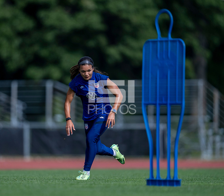 CLEVELAND, OH - SEPTEMBER 14: Sophia Smith of the United States sprints during a training session at the training fields on September 14, 2021 in Cleveland, Ohio.