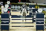 Christian Kukuk of Germany riding Cordess competes in the Hong Kong Jockey Club Trophy during the Longines Masters of Hong Kong at the Asia World Expo on 09 February 2018, in Hong Kong, Hong Kong. Photo by Ian Walton / Power Sport Images