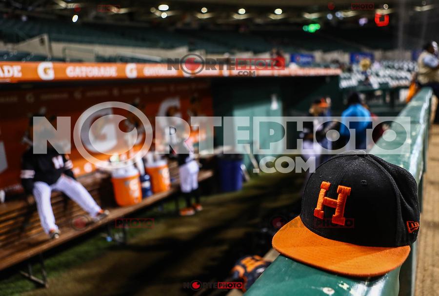 Detalle de gorra de naranjeros, durante el 1er. partido de beisbol de la serie entre Mayos de Navojoa vs Naranjeros de Hermosillo como parte de la segunda vuelta de la liga Mexicana del Pacifico (LMP). 20dic2016. <br /> ©Foto: LuisGutierrrez/NortePhoto