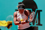 Naomi Osaka during the Mutua Madrid Open Masters match on day 7 at Caja Magica in Madrid, Spain.May 09, 2019. (ALTERPHOTOS/A. Perez Meca)