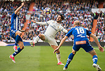 Isco Alarcon (c) of Real Madrid competes for the ball with Edgar Antonio Mendez Ortega (l) of Deportivo Alaves during their La Liga match between Real Madrid and Deportivo Alaves at the Santiago Bernabeu Stadium on 02 April 2017 in Madrid, Spain. Photo by Diego Gonzalez Souto / Power Sport Images