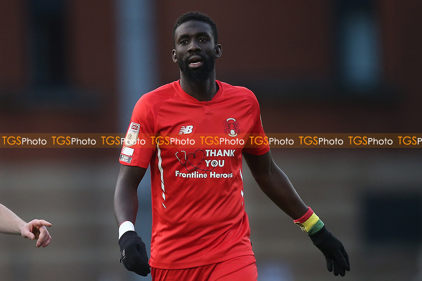 Ousseynou Cisse of Leyton Orient during Leyton Orient vs Salford City, Sky Bet EFL League 2 Football at The Breyer Group Stadium on 2nd January 2021