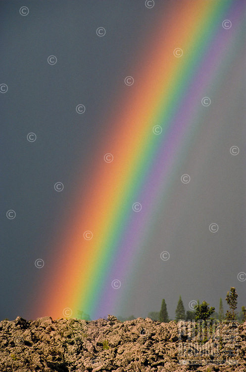 Rainbow over land