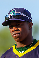 Beloit Snappers outfielder Lazaro Armenteros (8) prior to a Midwest League game against the Wisconsin Timber Rattlers on May 17, 2018 at Fox Cities Stadium in Appleton, Wisconsin. Beloit defeated Wisconsin 8-7. (Brad Krause/Four Seam Images)