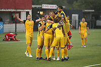 Ollie Muldoon of Hornchurch scores the second goal for his team and celebrates with his team mates during Bowers & Pitsea vs Hornchurch, Emirates FA Cup Football at The Len Salmon Stadium on 2nd October 2021
