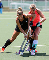Rose Keddell (L) and Olivia Merry.  North Harbour Hockey Stadium, Rosedale, Auckland,  New Zealand Monday 20 January 2020. Photo: Simon Watts/www.bwmedia.co.nz/HockeyNZ