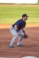 Bowling Green Hot Rods third baseman Jake Palomaki (7) during a Midwest League game against the Peoria Chiefs at Dozer Park on May 5, 2019 in Peoria, Illinois. Peoria defeated Bowling Green 11-3. (Zachary Lucy/Four Seam Images)