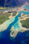 Faille devant l'embouchure de la Kwé Binyi à Goro, Sud de la Nouvelle-Calédonie