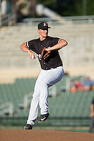 Kannapolis Intimidators starting pitcher Chris Comito (39) in action against the Greenville Drive at Intimidators Stadium on June 8, 2016 in Kannapolis, North Carolina.  The Intimidators defeated the Drive 3-2.  (Brian Westerholt/Four Seam Images)
