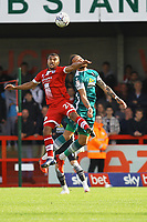 Kwesi Appiah of Crawley Town and Louis John of Sutton United during Crawley Town vs Sutton United, Sky Bet EFL League 2 Football at The People's Pension Stadium on 16th October 2021