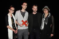Montreal (QC) CANADA - May 18  2011  Gala NUMIX :  Production Culturelle - Section Arts et Culture.<br /> Gagnant : Nouveau ThÈ'tre ExpÈrimental - TOXA :<br /> Julie Beauchemin, TOXA, Samuel Jacques, Philippe Lamarre, TOXA, Monique Savoie, PrÈsidente<br /> <br /> <br /> Photo : (c) 2011, Pierre Roussel -  Pour Usage editorial relie au gala NUMIX 2011
