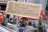 - Milano, sciopero generale indetto dal sindacato Cgil per protestare contro la riforma del lavoro del governo Monti....- Milan general strike called by the CGIL union to protest against the government labor reform