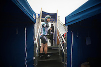 Mark Cavendish' last steps before the start<br /> <br /> Tour of Britain<br /> stage 3: ITT Knowsley Safari Park (16.1km)