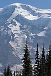 Mount Rainier, Wonderland Trail, Mount Rainier National Park, Washington State, Pacific Northwest, U.S.A., Mystic Lake area,