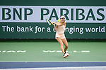 March 10, 2018: Cici Bellis (USA) defeated by Elena Vesnina (RUS) 2-6, 6-1, 6-1 at the BNP Paribas Open played at the Indian Wells Tennis Garden in Indian Wells, California. ©Mal Taam/TennisClix/CSM