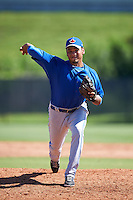 Toronto Blue Jays pitcher Maximo Castillo (65) during an Instructional League game against the Philadelphia Phillies on October 1, 2016 at the Carpenter Complex in Clearwater, Florida.  (Mike Janes/Four Seam Images)