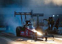 Oct 11, 2019; Concord, NC, USA; NHRA top fuel driver Doug Kalitta during qualifying for the Carolina Nationals at zMax Dragway. Mandatory Credit: Mark J. Rebilas-USA TODAY Sports