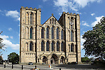 Great Britain, England, North Yorkshire, Ripon: West front of Ripon Cathedral