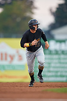 West Virginia Black Bears left fielder Austin Meadows (52) runs the bases during a game against the Batavia Muckdogs on August 7, 2017 at Dwyer Stadium in Batavia, New York.  West Virginia defeated Batavia 6-3.  (Mike Janes/Four Seam Images)