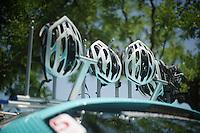 helmet drying rack<br /> <br /> Tour de France 2013<br /> restday 2