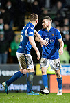 St Johnstone v Celtic…..29.01.20   McDiarmid Park   SPFL<br />Liam Craig and David Wotherspoon<br />Picture by Graeme Hart.<br />Copyright Perthshire Picture Agency<br />Tel: 01738 623350  Mobile: 07990 594431