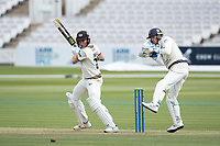 James Bracey, Gloucestershire CCC cuts backward of point during Middlesex CCC vs Gloucestershire CCC, LV Insurance County Championship Group 2 Cricket at Lord's Cricket Ground on 7th May 2021