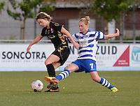 AA Gent - Telstar :<br /> <br /> tackle van Margaux Van Ackere (R) op Karin Legemate (L)<br /> <br /> foto Dirk Vuylsteke / Nikonpro.be