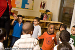 Education preschool 4 year olds circle time group of children singing together horizontal