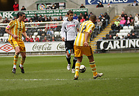 ATTENTION SPORTS PICTURE DESK<br /> Pictured: Andrea Orlandi of Swansea City in action<br /> Re: Coca Cola Championship, Swansea City Football Club v Newcastle United at the Liberty Stadium, Swansea, south Wales. 13 February 2010