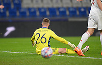 4th November 2020, Basaksehir Fatih Stadium, Istanbul, Turkey; UEFA Champions League football,  Basaksehir versus manchester United;  Goakeeper Dean Henderson of Manchester United  frustrated as they go behind in the match