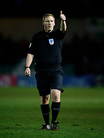 Referee John Busby<br /> <br /> Photographer Chris Vaughan/CameraSport<br /> <br /> The EFL Sky Bet League One - Lincoln City v Milton Keynes Dons - Tuesday 11th February 2020 - LNER Stadium - Lincoln<br /> <br /> World Copyright © 2020 CameraSport. All rights reserved. 43 Linden Ave. Countesthorpe. Leicester. England. LE8 5PG - Tel: +44 (0) 116 277 4147 - admin@camerasport.com - www.camerasport.com