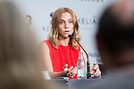 Actress Aura Garrido during press conference of 'La Piel Fria' at Sitges Film Festival in Barcelona, Spain October 11, 2017. (ALTERPHOTOS/Borja B.Hojas)