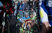 Mirko Selvaggi (ITA/Wanty-Groupe Gobert) relaxed before the start<br /> <br /> 50th Amstel Gold Race 2015