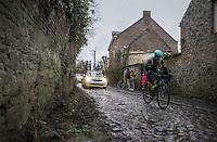 on the Chemin de Wihéries cobble section (Honelles)<br /> <br /> GP Le Samyn 2017 (1.1)