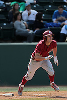 Adam Nelubowich #37 of the Washington State Cougars bats against the UCLA Bruins at Jackie Robinson Stadium on March 24, 2012 in Los Angeles,California. UCLA defeated Washington 12-3.(Larry Goren/Four Seam Images)