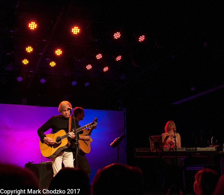 Justin Hayward, Mike Dawes and Julie Ragins perform in concert at The Rose.