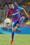 FC Barcelona's Jordi Alba during La Liga match. August 15, 2021. (ALTERPHOTOS/Acero)